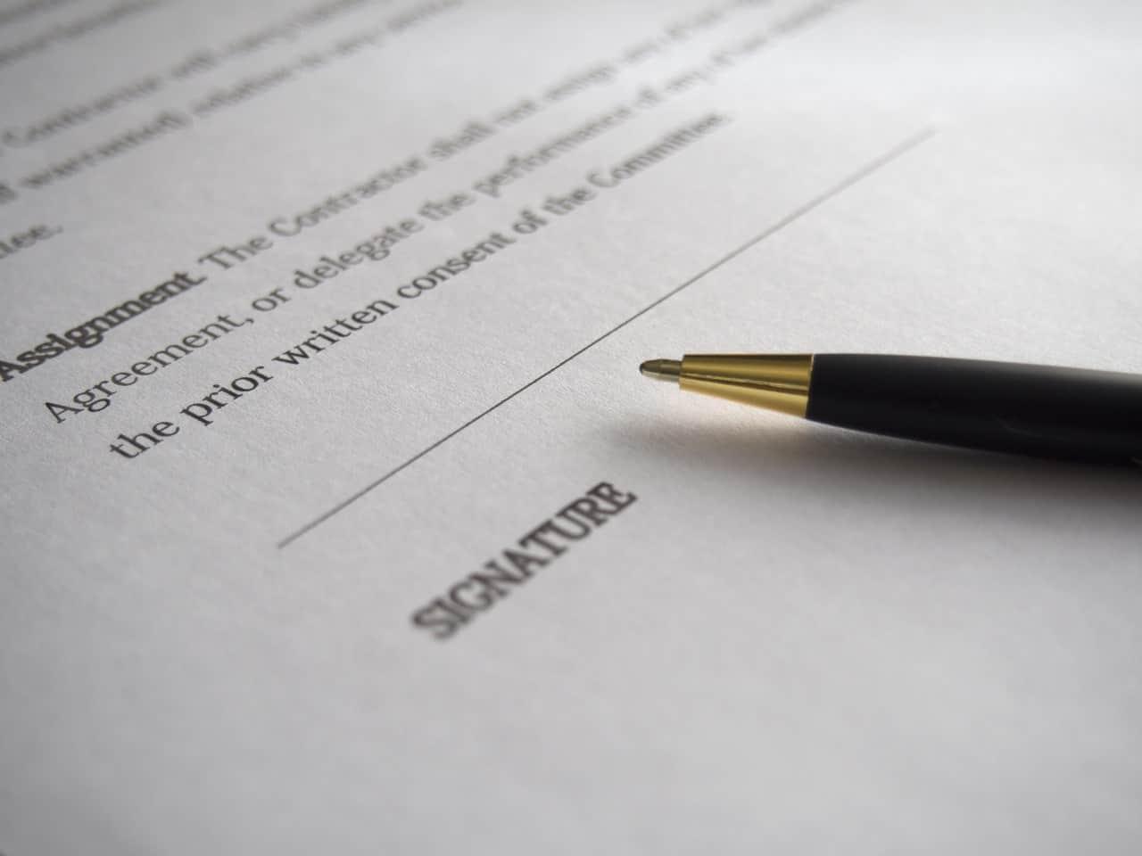 podpis umowy