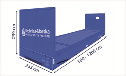 Kontenery Morskie Flat Rack