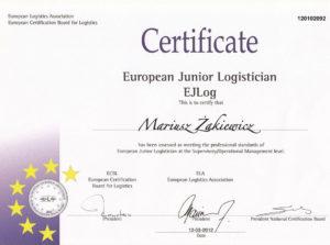 BBA Transport Certyfikat EJLog