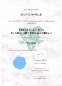 BBA Transport Certyfikat FIATA