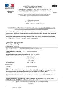 BBA Transport Certyfikat LOI