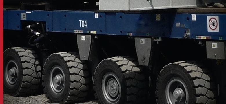 Transport ponadgabarytowy ciężki – moduły samojezdne SPMT (self propelled modular system)
