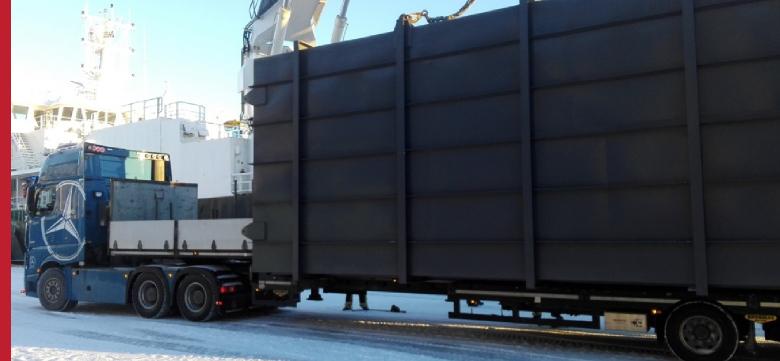 Project Cargo, transport ponadgabarytowy – odbiór ładunku w porcie w Norwegii