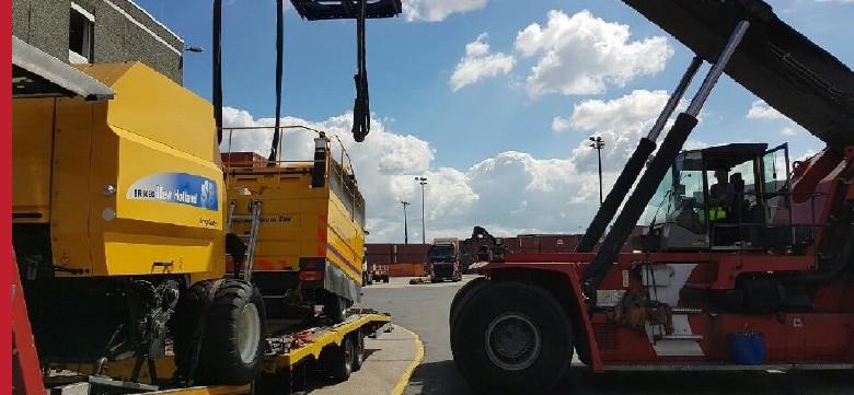 Transport gabarytowy, przewóz maszyn rolniczych Francja
