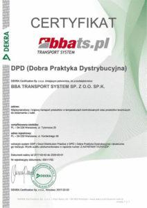 Dobra Praktyka Dystrybucyjna Certyfikat