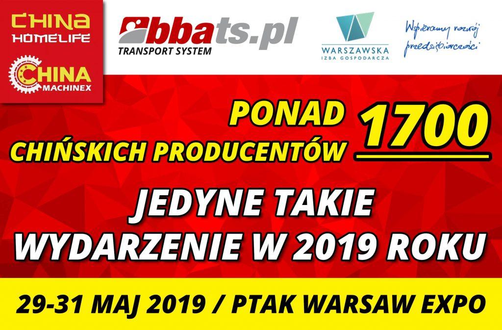 China Home Life Targi Wystawców Chińskich BBA Transport System Warszawa 2019