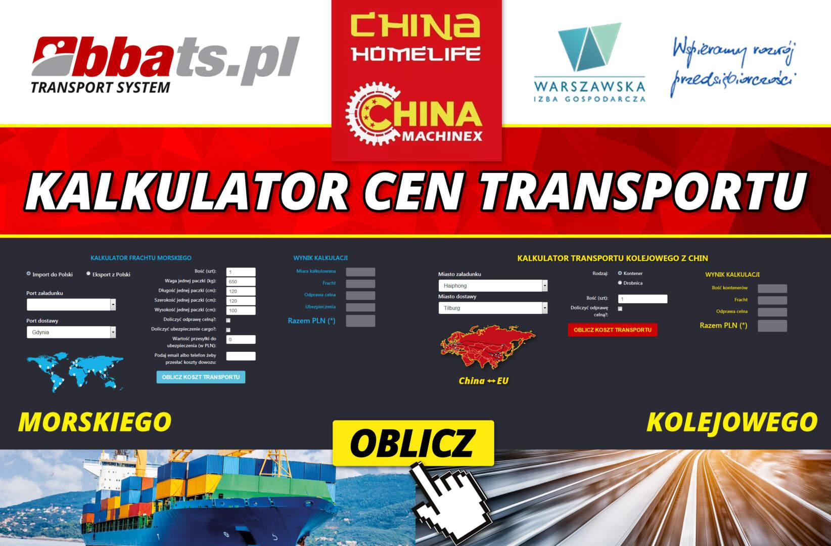Poważne Kontenery z Chin - BBA Transport System JI93