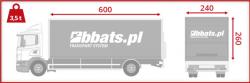 """Transport samochodowy. Na krótkie i średnie trasy, wysyłane są często samochody typu """"solówka"""" o wymiarach 600x240x260"""