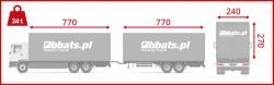 Transport samochodowy. Zestaw transportowy solówka + przyczepa, pozwalający przetransportować duże ilości ładunku.