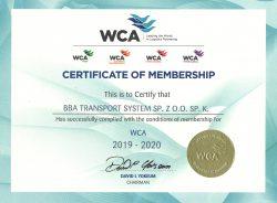 Certyfikat WCA dla BBA Transport System