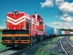 Spedycja Kolejowa z Chin. Pociąg towarowy jadący Nowym Jedwabnym Szlakiem