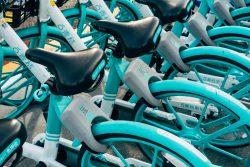 Kody QR w Chinach. Wypożyczalnia rowerów miejskich.