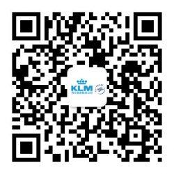 Kody QR w Chinach. Kod QR pozwalający na szybkie śledzenie linii lotniczych KLM.