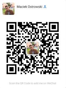 Kody QR w Chinach. Kod QR pozwalający na dodanie autora tego tekstu do znajomych w aplikacji WeChat.