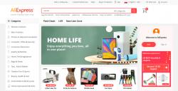Jak kupować na aliexpress? Panel startowy portalu aliexpress.com